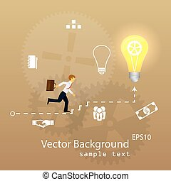 Vector illustration of teamwork, business template with flat...