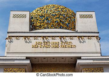 austria, vienna, secession - the building of the secession...