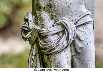 sculpture in a cemetery, symbolism of death, decay,...