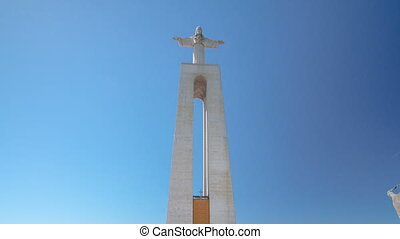 Jesus Christ monument in Almada, district of Lisbon,...