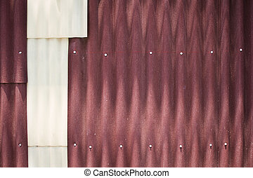 Rusty corrugated metal wall - red corrugated metal wall...
