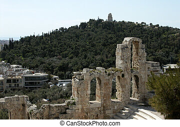 Herodion at Acropolis Athens - Herodion from Acropolis hill...
