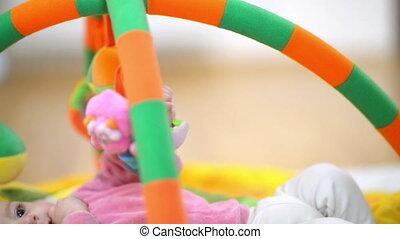 Innocent Baby Smiling - Innocent baby smiling and playing...