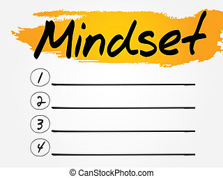 Mindset Blank List, vector concept background