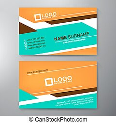 Modern Business card Design Template Vector illustration
