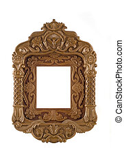 Wooden carved Frame for picture useful as icon case over...