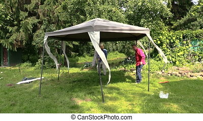 People fix garden tent bower long metal legs Protection from...