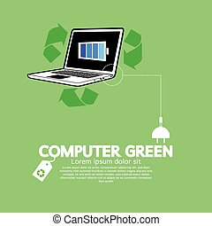 Computer With Green Concept.