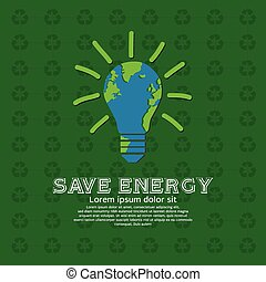 Save Energy. - Save energy illustration conceptual vector.