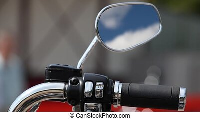 motorcycle Rear view mirror reflect - motorcycle rear-view...