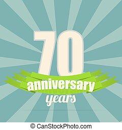 Anniversary emblem. - 70 years anniversary retro label