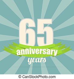 Anniversary emblem. - 65 years anniversary retro label