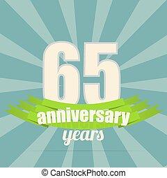 Anniversary emblem. - 65 years anniversary retro label