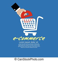 E-Commerce - E-Commerce Vector Illustration Concept EPS10