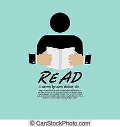 Book Reader. - Book Reader Vector Illustration EPS10