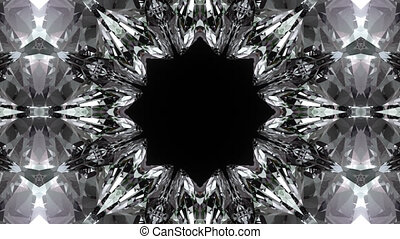 Crystalline background - Beautiful kaleidoscopic crystalline...