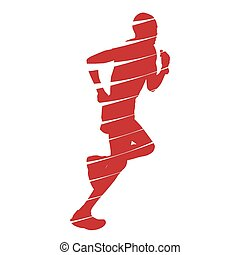 Abstract red runner