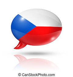 Czech Republic flag speech bubble