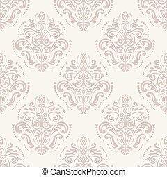 Orient Seamless Vector Pattern. Abstract Pink Background