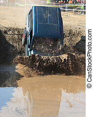 Off-road - A truck during a tough off-road competition...