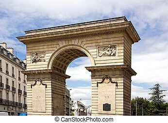 Porte Guillaume 18th century Dijon, Burgundy France Remains...