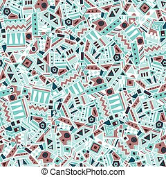 Ethnic seamless pattern. Vector illustration - Ethnic...