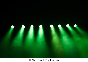 Stage lights on concert. Lighting equipment with...