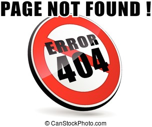 page not found - illustration of page not found design sign