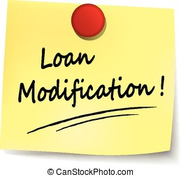 loan modification note - illustration of loan modification...