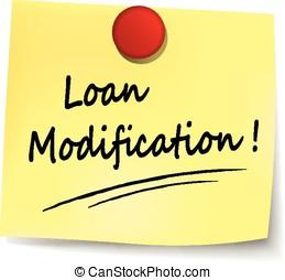 loan modification note - illustration of loan modification...