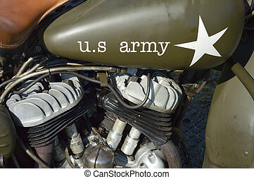 US Army motorcycle - Detail of an US Army motorcycle....