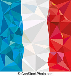 Stylized flag of France low poly - Stylized flag of France....