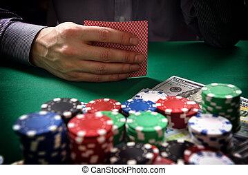 man playing in poker