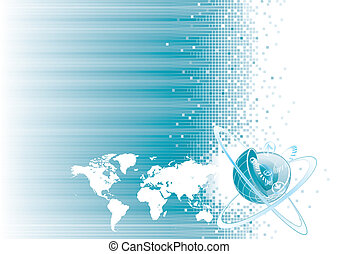 Global Communication - Global communication design, vector...
