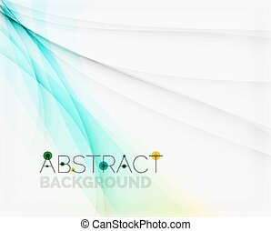 Corporate white background with gentle flowing waves Vector...