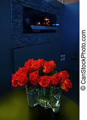 roses in interior