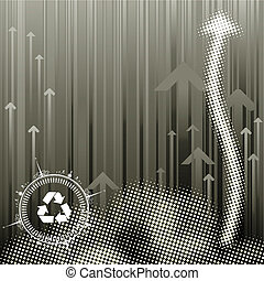 Pollution Background - Pollution Abstract halftone...