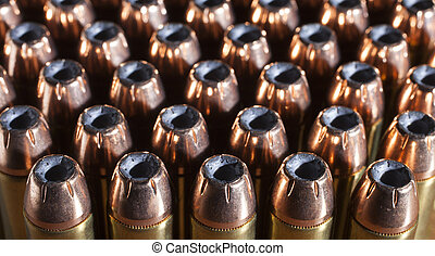 Ready for the range - Lots of forty four magnum cartridges...