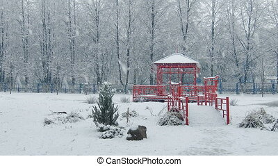 Mega extra big global snowfall loop china japan style - Mega...