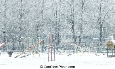 Mega extra big global snowfall loop on playground - Mega...