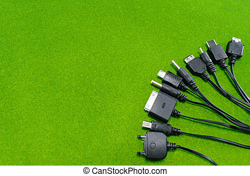 Multi head of mobile phone charger (Universal charger) on...
