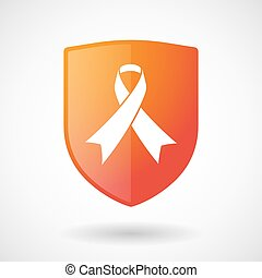 Shield icon with a social awareness ribbon