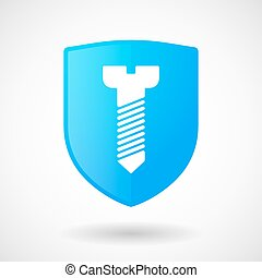 Shield icon with a screw