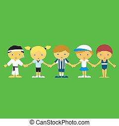Sportsmanship - Children from different sports