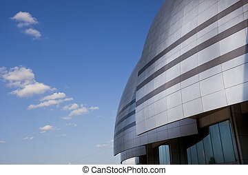 modern building - the modern building with the blue sky...
