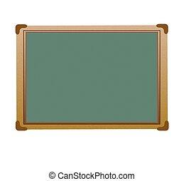 Green Chalk Board - Vector - Green Chalk Board
