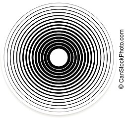 Concentric Circle Elements / Backgrounds. Abstract circle...