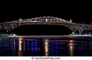 Blue Water Bridge - The twin spans of the Blue Water Bridges...