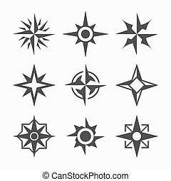 Wind rose icons