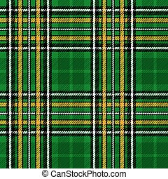 Ireland National Tartan - Seamless illustration